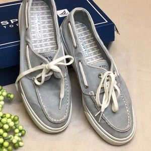 Sperry Top-Sider Sneakers 8 Gray Boat Shoe Style
